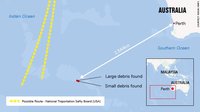 Map of the search area