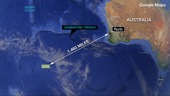 Australia search Malaysia map Diamantina Trench search area