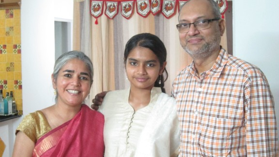 Chandrika Sharma, left, was on Flight 370; her daughter Meghna and husband K.S. Narendran wait patiently, trying to manage their anxiety and longing for her return.