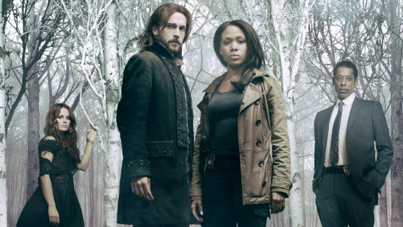"""Still looking for post-racial America? Turn on the TV. There's been a surge of multiracial casting in sci-fi and horror shows such as """"The Walking Dead"""" and """"Sleepy Hollow"""" (pictured from left, Katia Winter, Tom Mison, Nicole Beharie and Orlando Jones). These shows depict people of color, and women, in nonstereotypical roles. Anyone -- not just white men -- can now be the hero."""