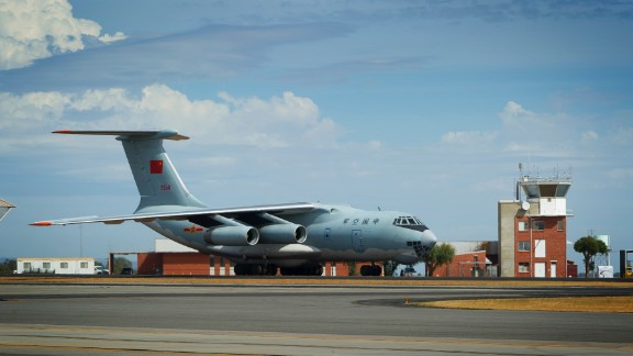 """Crew on one of the II-76 aircraft spotted """"suspicious objects"""" in the Indian Ocean."""
