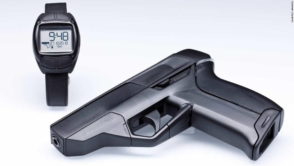 The Armatix iP1 pistol uses a radio frequency identification (RFID) chip activated by the owner's watch.