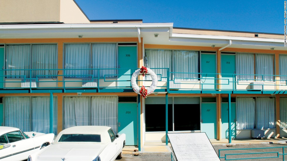 On April 4, 1968, Martin Luther King Jr. was shot while standing on the balcony of the Lorraine Motel. He was in Memphis to lead a protest in support of striking city workers. The site is now the National Civil Rights Museum.