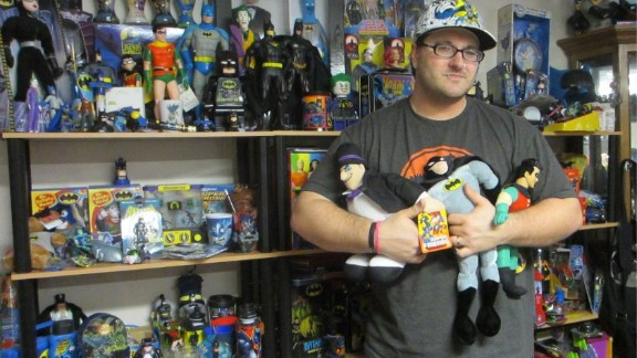 Matt MacNabb of Omaha, Nebraska, runs the fan site legionsofgotham.org. He is one of many Batman fans who collect all the Batman memorabilia they can get their hands on. With the popular comic book character