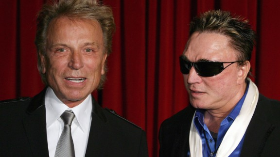 Siegfried, left, and Roy, seen in 2009,  had a popular Las Vegas show until Roy was attacked on stage in 2003.