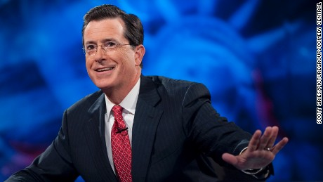Stephen Colbert has taken the news network hosts' me-first, confrontational style and parodied it mercilessly. There are times, however, when the joke cuts a little too close to home.