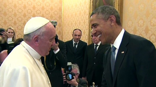 President Obama meets the Pope