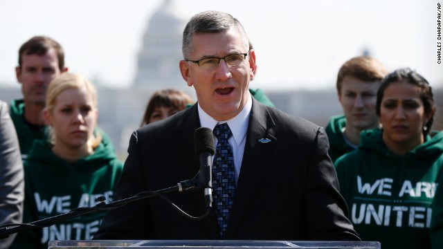 Sen. John Walsh in Washington Thursday announces legislation aimed at reducing suicides in the armed forces.