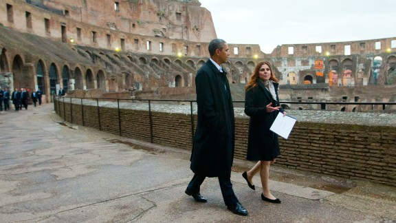 U.S. President Barack Obama tours the Colosseum in Rome on Thursday, March 27. Click through to see other photos from Obama's trip to Europe this week.