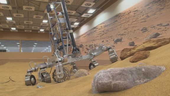 "The ""Mars Yard"" is being used to help develop the European Space Agency"