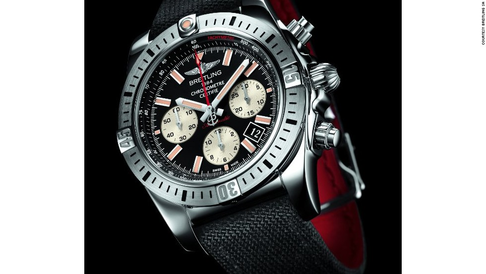 "According to watch connoisseurs, first time buyers should stick to well-known, established brands in order to ensure they are getting quality for their money. Breitling, whose Chronomat 44 Airborne is shown here, is famous for being the watch of choice for James Bond in the 1965 film ""Thunderball""."