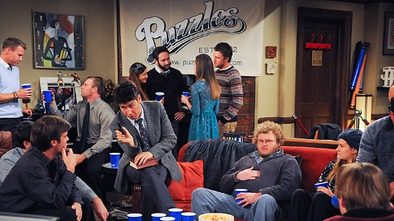 "Ted and Barney's dream bar, ""Puzzles"" was set up in Ted's apartment. It even had a theme song, which sounded a bit like that other bar-based sitcom."