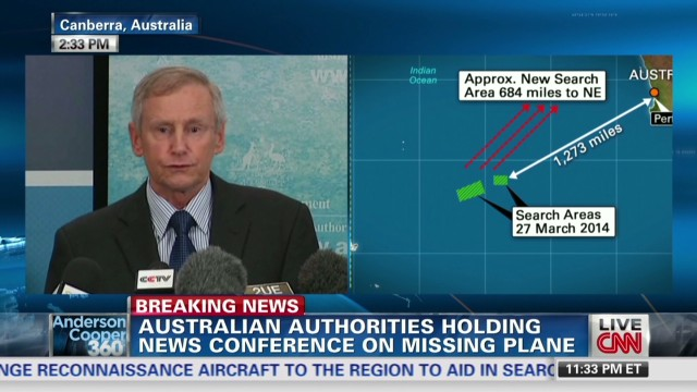 Aircraft search new area for missing plane