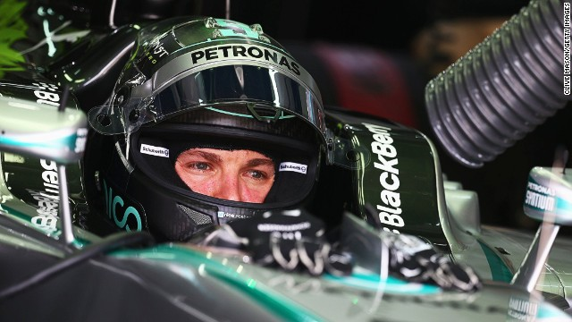 Nico Rosberg of Germany and Mercedes GP prepares to drive during practice for the Malaysia Formula One Grand Prix at the Sepang Circuit.