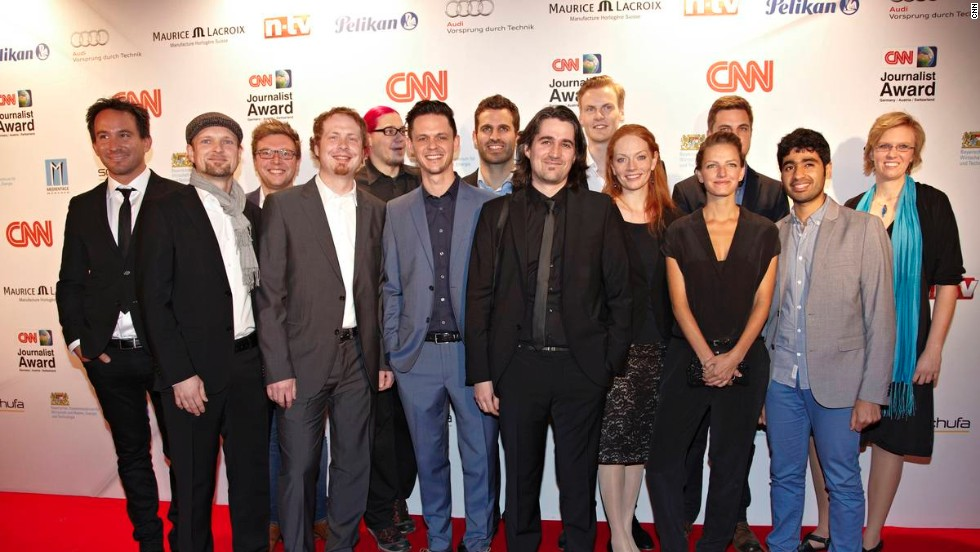Nominees for the 2014 CNN Journalist Awards arrive ahead of the ceremony on March 27 in Munich, Germany.