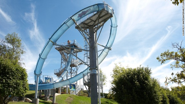 The drop which follows allows them to gain enough speed -- up to 60 kilometers an hour -- to make it around the almost-vertical loop, which proved somewhat of a challenge for ride designers.