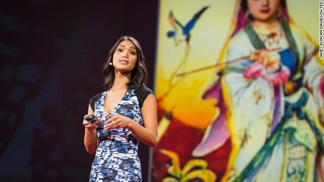 Model Geena Rocero speaks at  the TED2014 conference in Vancouver, British Columbia, earlier this month.