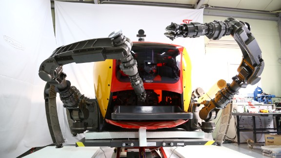 The Crabster's multi-jointed, six-axis front legs allow it to manipulate objects, and store them in the front compartment.