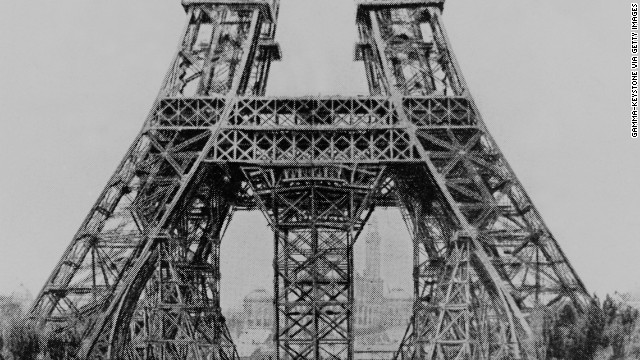 Eiffel Tower Under Construction On May 1888