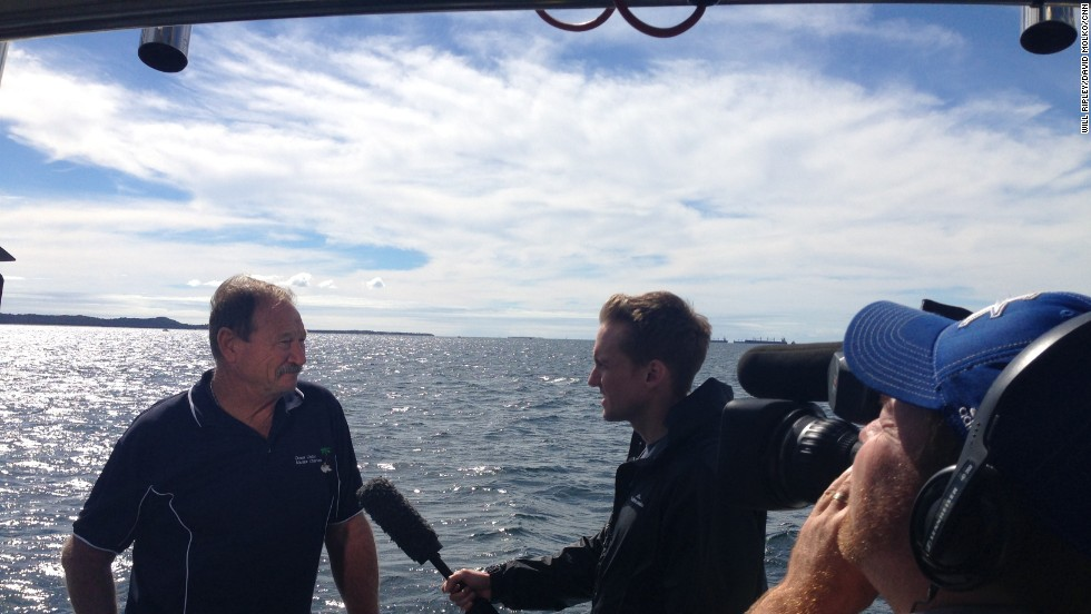 CNN's Will Ripley interviews Captain Ray Ruby of Down Under Marine Charters about conditions in the southern Indian Ocean.