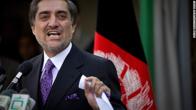 Two-time presidential candidate Abdullah Abdullah, seen here during his 2009 candidacy