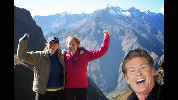 """The Web was full Tuesday of fake products and other April Fools pranks. Here are some of our favorites, beginning with Google's """"auto photobomb"""" tool that lets you spice up your pics with David Hasselhoff."""