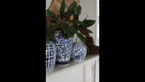 Blue chinoiserie ginger jars are a recent evolution of Clark