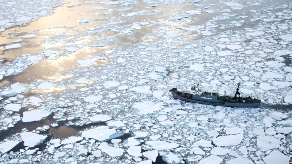 The Japanese whaling ship Yushin Maru No. 1 cuts through the ice flows in the Southern Ocean in Antarctica on January 25, 2011. Japan has hunted for whales extensively in the Southern Ocean, which includes a whale sanctuary.