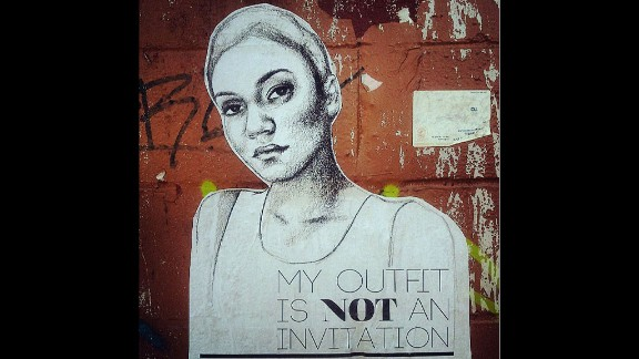 The Oklahoma-born, New York-based artist made her first set of posters in 2012 using likenesses of her friends. Since then she has taken her project on the road, talking to women across the country about their experiences with street harassment and creating posters based on their sentiments.