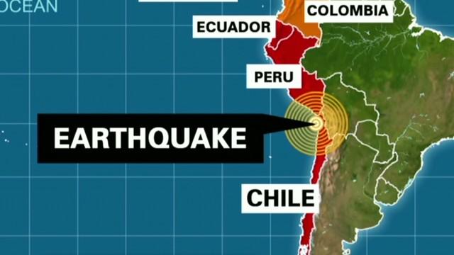 1960 Chile Earthquake Map.Powerful Earthquake Strikes Off The Coast Of Chile Cnn