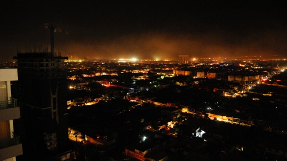 A view of Iquique following the earthquake on April 1.