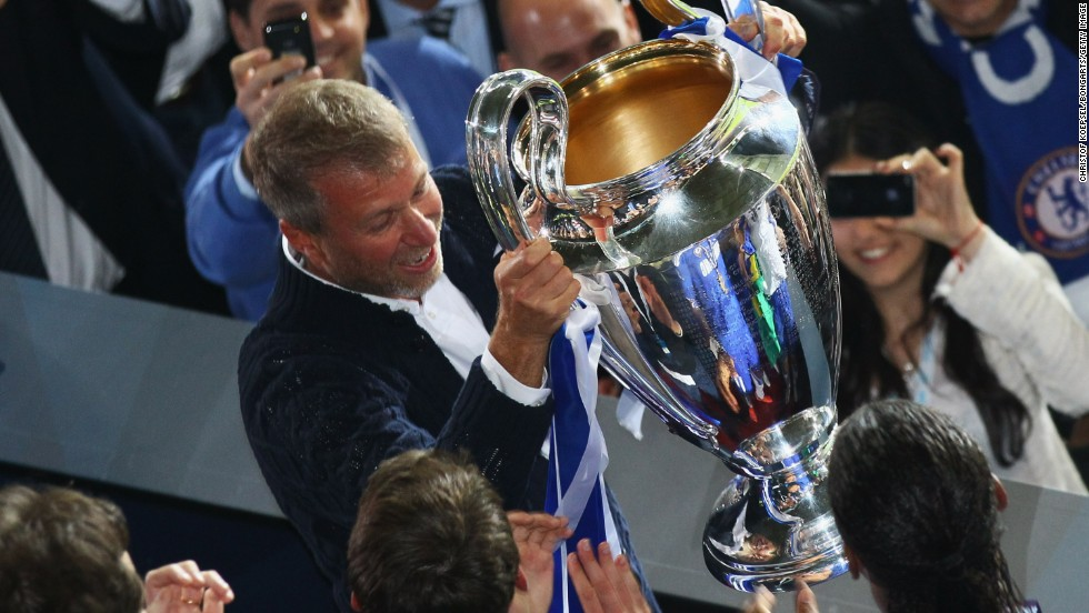 Russian oligarch Roman Abramovich took control of Chelsea in 2003 and spent an estimated $2.9 billion during his first 10 years in charge. The club won its first English league title in over 50 years by 2005 but the prize he really wanted -- the Champions League -- didn't arrive until 2012. Abramovich is worth $9bn, according to Forbes.