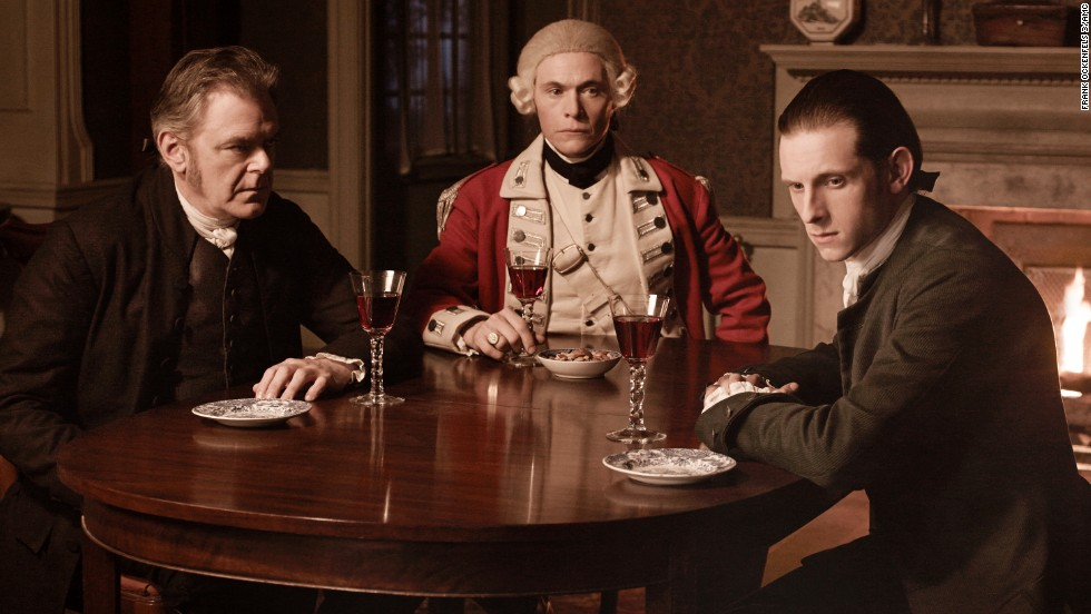 """Turn"" dramatizes the story of America's first spy ring during the Revolutionary War. Jamie Bell, right, stars as Abe Woodhull, a farmer who helps form a team of secret agents aiding George Washington. The show has been renewed for a second season on AMC, airing in spring 2015."