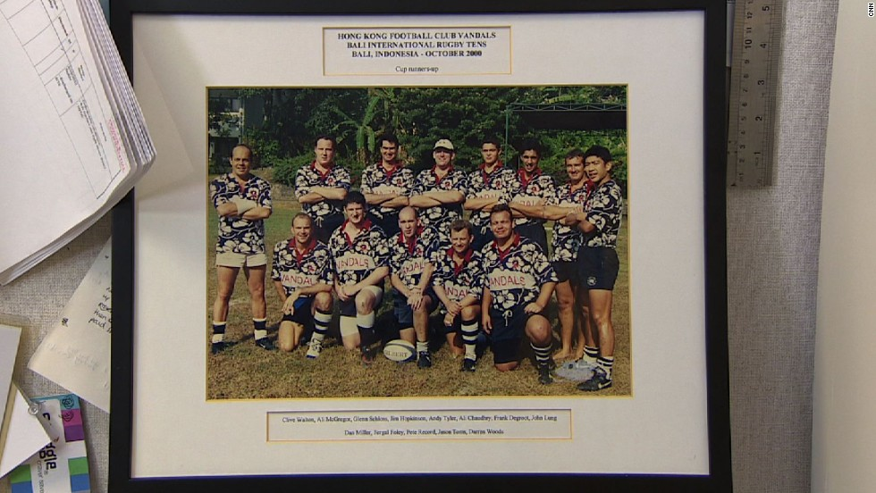Vandals rugby team played in a 10s tournament in Bali in 2000, and many of the members pictured were killed in the 2002 bombings.