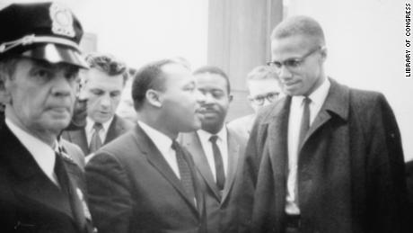 The only time King and Malcolm X came face to face was this impromptu meeting in 1964.