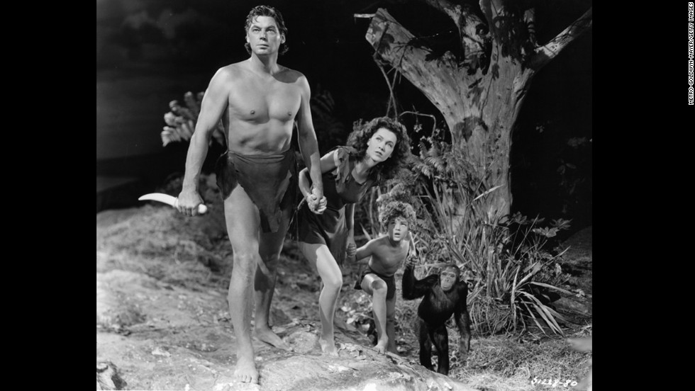 Before he became one of the best-known actors to play Tarzan, Johnny Weissmuller (left, with Maureen O'Sullivan and Johnny Sheffield) was a champion swimmer. He won five Olympic gold medals for swimming and a bronze for water polo in the 1924 and 1928 Games.