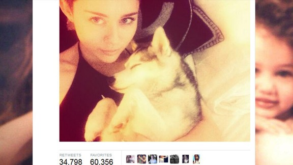 """Tragedy struck in early April 2014 with the death of the singer's favorite pooch, Floyd. Cyrus tweeted to her Boston fans in advance of her concert there that she was """"beyond miserable."""" The gift of a new dog from her mother apparently did little to console her, as Cyrus later tweeted that she gave the new dog away to a friend."""