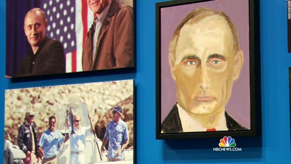 Paintings Unveil George W Bush S Softer Side Cnnpolitics