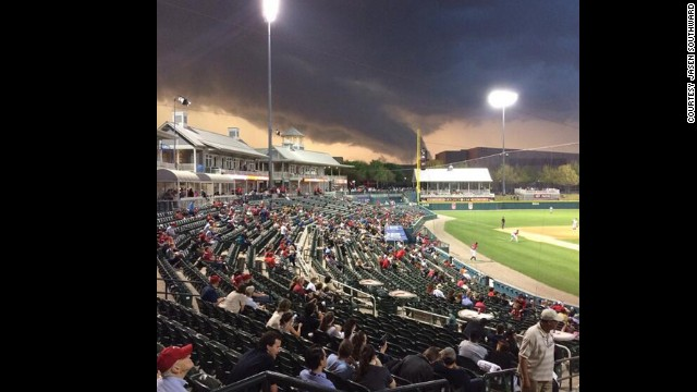 Baseball Storm Tornado Story Top Photos Storms Rolling Houston