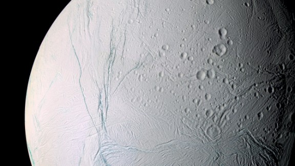 The scars of time and space mark the surface of Saturn
