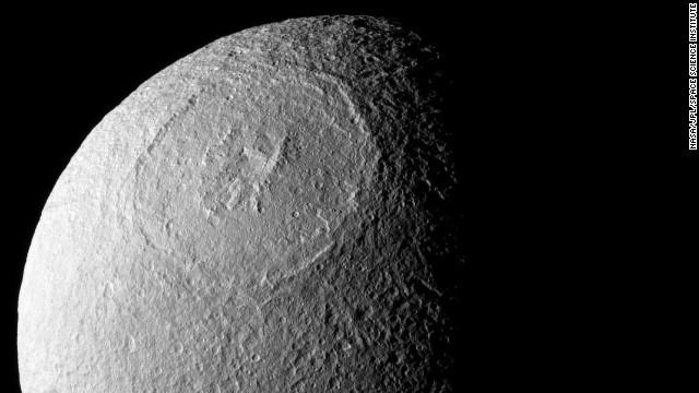 Saturn moon looks like 'Death Star' - CNN Video