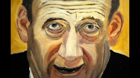 A portrait of former Israeli Prime Minister Ehud Olmert is also part of the exhibit. Bush, who started painting lessons after he left the White House in 2009, said he hopes the leaders he chose to depict will take it in the right spirit.