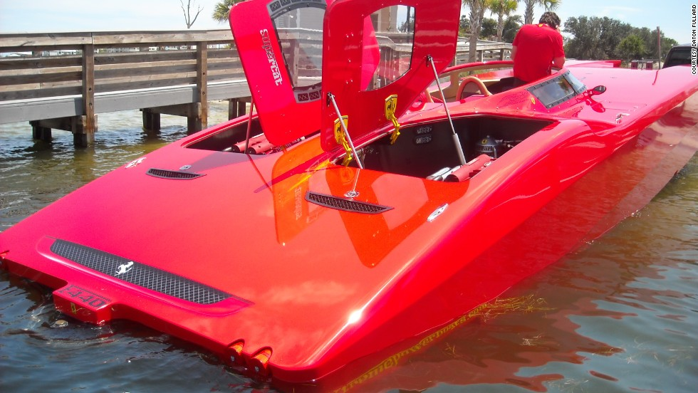 "The company also made this Ferrari-inspired yacht and a Corvette-style boat for other wealthy clients. ""The people that own these boats, already own the vehicles,"" says Larry Goldman, owner of<a href=""http://www.xtremepowerboats.com/"" target=""_blank""> Xtremepowerboats</a>, which deals the pimped-up yachts. ""Nobody wants a boat to resemble a car that they can't afford."""