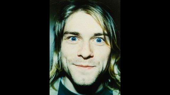 Cobain mugs for the camera in 1992.