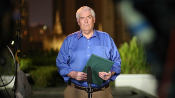 Jim Clancy covering the disappearance of MH 370 from Kuala Lumpur.