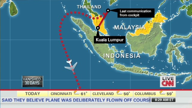Source: MH370 skirted Indonesia radar