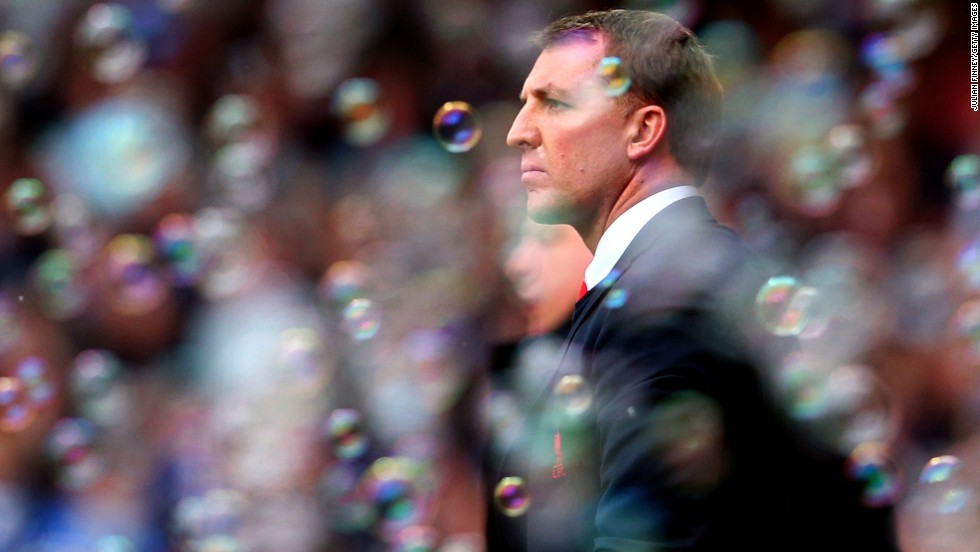 Brendan Rodgers, surrounded by the traditional bubbles blown onto the pitch by West Ham fans, is hoping to burst Liverpool's 24-year title drought.