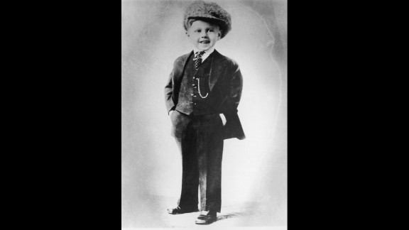 Rooney circa 1927 in a three-piece suit. The actor got his start in his parents' vaudeville show.