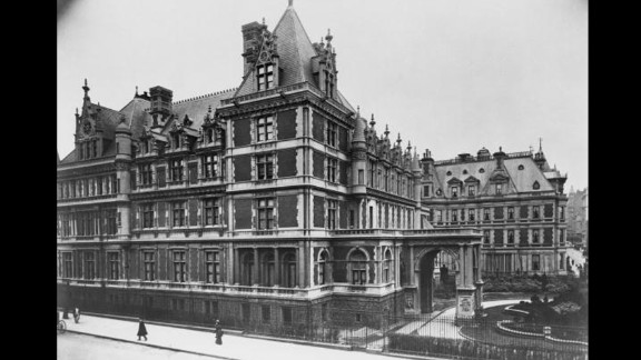 In the early 20th century, industrial tycoons like the Rockefellers and Carnegies amassed fortunes in railroads, steel or oil. Here, a view of Cornelius Vanderbilt
