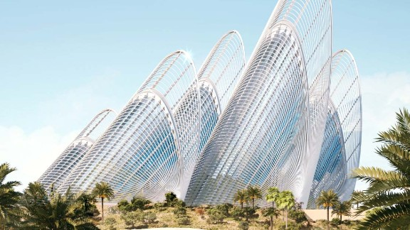 """Architectural firm Foster + Partners won the contract as part of an international design contest. Their design was """"inspired by the dynamic of flight and the feathers of a falcon."""" Each """"feather"""" will rise 125 meters and house gallery space."""